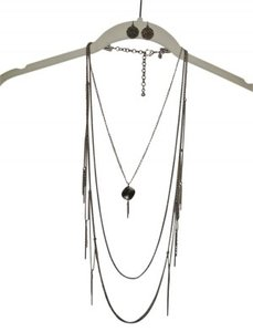 Chico's Hammered Bronze Neckalce and Earring Set