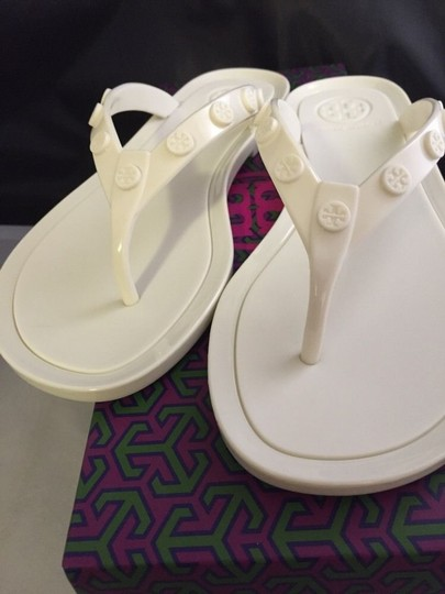 Tory Burch Size 7 Jelly ivory Sandals