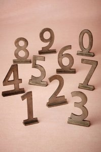 BHLDN Sans Serif Zinc Table Numbers {set Of 1 - 12} Other