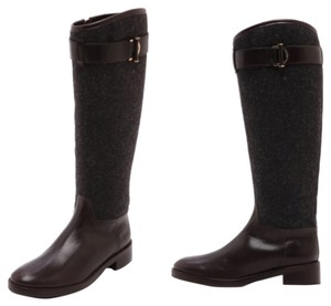 Tory Burch Size 7 Grace grey/coconut Boots
