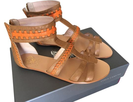 Preload https://item1.tradesy.com/images/vince-camuto-tan-and-orange-sandals-size-us-8-regular-m-b-3800995-0-0.jpg?width=440&height=440