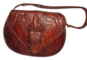 Florida Fashion Alligator Bags Satchel in Brown