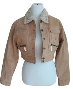 Marcelle Renee Leather Crop Coat