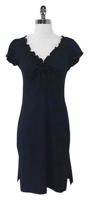 Shoshanna short dress Black Silk Ruffle on Tradesy