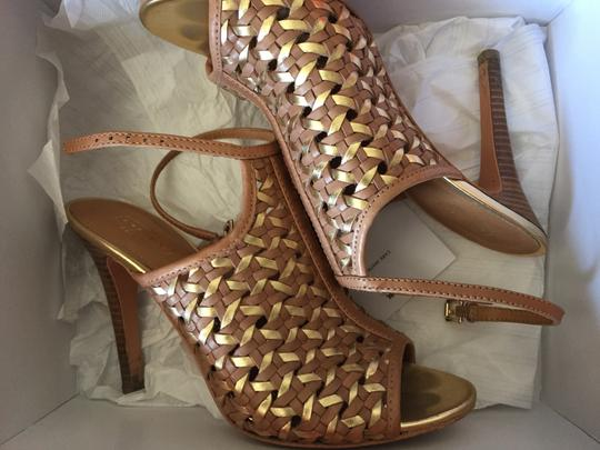 Coach Tan & gold Sandals