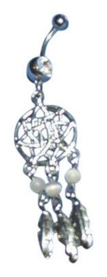 Preload https://item1.tradesy.com/images/blue-and-silver-belly-button-ring-dream-catcher-380120-0-0.jpg?width=440&height=440