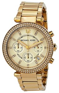 Michael Kors Michael Kors Crystal Gold Tone Champagne Dial Ladies Watch
