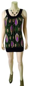 Robin K short dress green, black, purple, beige Summer Above Knee Mini Sleeveless Stretchy P1420 on Tradesy