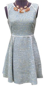 Ya Los Angeles short dress Teal, White, Gold on Tradesy