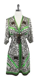 Hale Bob short dress Green & Brown Print Silk Kimono on Tradesy