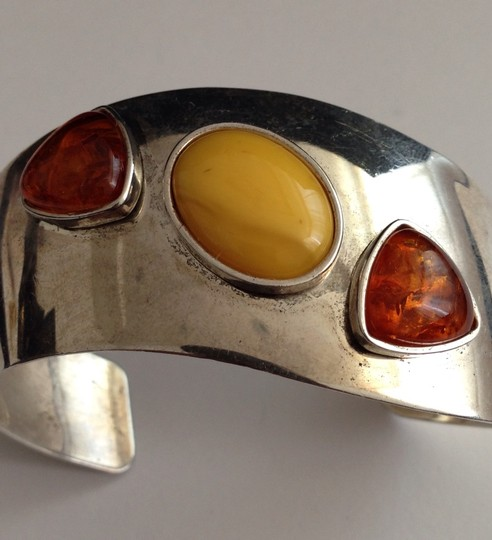 Other Sterling Amber Cuff Bracelet.