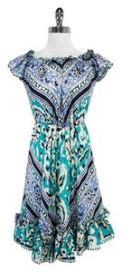 Blumarine short dress blue Print Silk on Tradesy