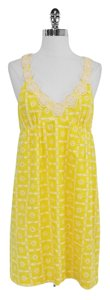 Tibi short dress Yellow Embroidered Cotton Eyelet on Tradesy