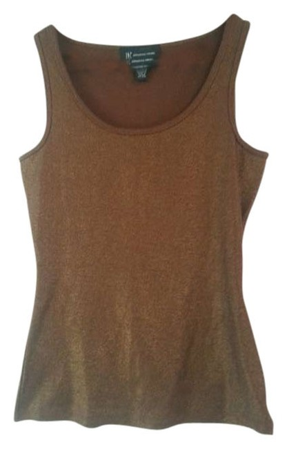 INC International Concepts Metallic Shimmer Top Brown