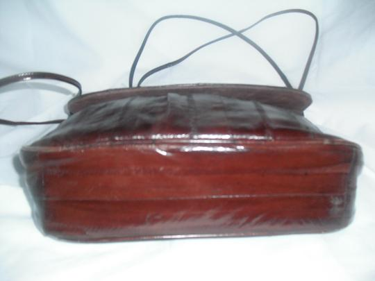 eel skin Leather Exotic Shoulder Bag
