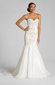 Theia Silk Organaza Embroidered Mermaid Gown Wedding Dress