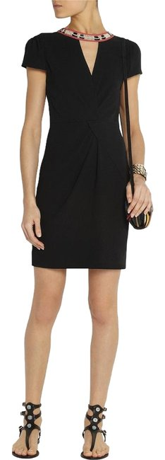 Maje Cut Out Lbd Little Mini Embellished Dress