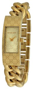 Michael Kors Michael Kors Champagne Dial Gold-tone Logo Chain Twist Ladies Watch