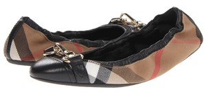 Burberry Hollow House Check Horsebit black Flats