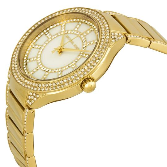 Michael Kors Michael Kors Mother of Pearl Crystal Dial Gold-tone Ladies Watch