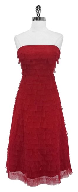 Preload https://item4.tradesy.com/images/bcbgmaxazria-red-tiered-tulle-strapless-tea-length-mid-length-formal-dress-size-4-s-3803473-0-0.jpg?width=400&height=650