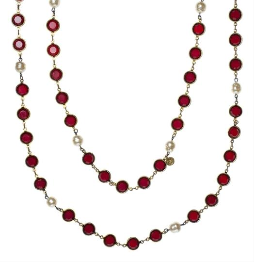 Preload https://item1.tradesy.com/images/chanel-red-vintage-chicklet-necklace-3803590-0-0.jpg?width=440&height=440