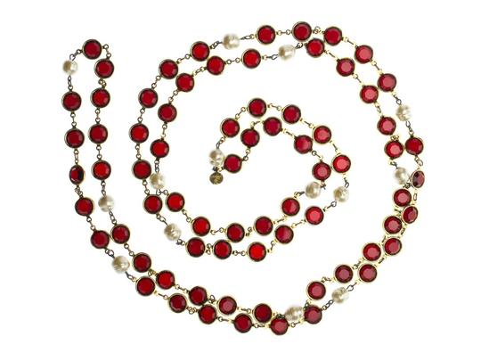 Chanel Chanel Vintage Red Chicklet Necklace