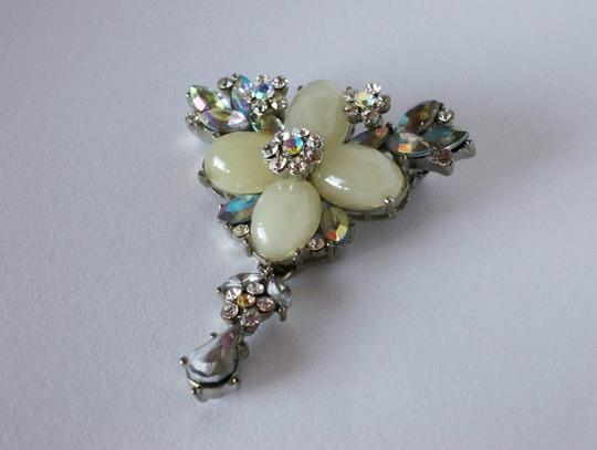 Other Faux Pearl & Diamond Brooch