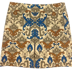 Nanette Lepore Skirt Teal, Brown, Off White