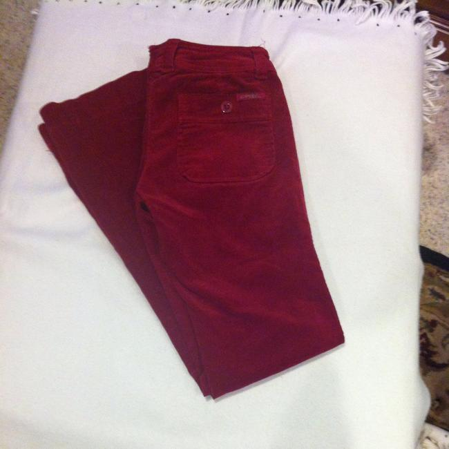 Clash Jeans Xs Sx Xs 0 25 26 25 X 31 26 X 26 X 31 Cords Corderoy Velvet Soft Velvety Holiday Christmas Winter Ski Snow Color Color Flare Pants Red