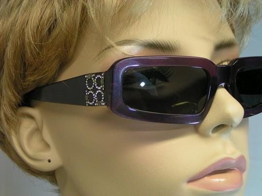 Salvatore Ferragamo MOD2036B PURPLE 248/61 CRYSTALS SUNGLASSES ITALY