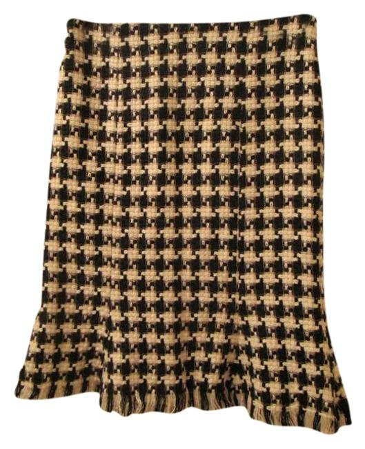 Item - Large Houndstooth Wool Lined Skirt Size 2 (XS, 26)