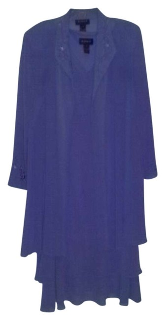 Item - Dusty Lavendar Sheer Duster and Double Tiered Sheath Mid-length Formal Dress Size 18 (XL, Plus 0x)