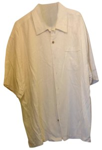 Jamaica Jaxx Mens Silk Xxl Button Down Shirt Cream