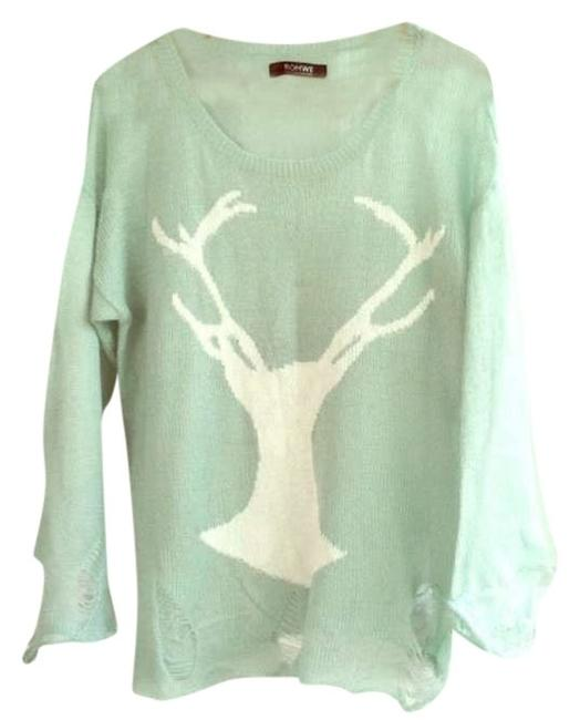 Preload https://item2.tradesy.com/images/romwe-mint-wildfox-inspired-distressed-sweaterpullover-size-os-one-size-380611-0-0.jpg?width=400&height=650