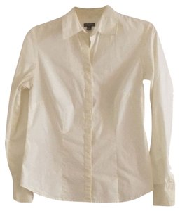 Ann Taylor Button Down Shirt Off White