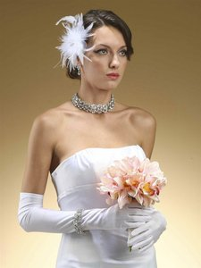Mariell White Above Elbow Or Prom In Matte Satin 225gl-w Gloves