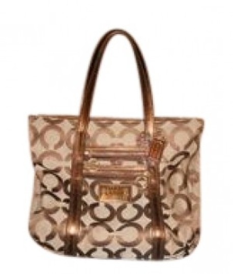 Preload https://item5.tradesy.com/images/coach-signature-leather-tan-jacquard-tote-38064-0-0.jpg?width=440&height=440