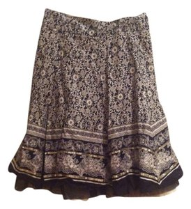Limited Too Boho Boho Girls Summer A Line Dressy Fun Cream 26 26 Waist Xs Xxs 10 Girls 10 Spring Print Spring Maxi Knee Skirt Black And White