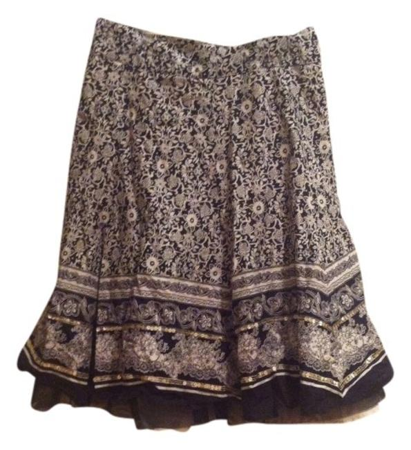 Limited Too Boho Boho Girls Summer Cotton A Line Dressy Cream 26 26 Waist Xs Xxs 10 Girls 10 Spring Print Spring Maxi Knee Skirt Black And White
