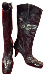 Other Vintage Patent Purple Print Boots