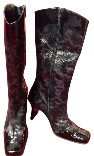 Other Vintage Leather Patent Leather Purple Print Boots