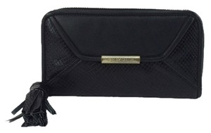 See by Chloé Chloe Cherry Tassel Continental Wallet Wristlet in Black