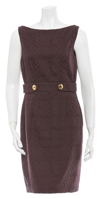 Preload https://img-static.tradesy.com/item/3806974/milly-brown-woven-short-cocktail-dress-size-4-s-0-0-650-650.jpg