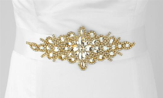 Preload https://img-static.tradesy.com/item/3807022/mariell-whitegold-opulent-satin-and-crystal-starburst-3886sh-w-g-sash-0-0-540-540.jpg