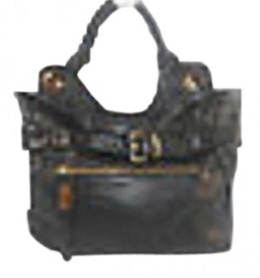 Preload https://item3.tradesy.com/images/foley-corinna-jet-set-sleek-and-stylish-black-leather-satchel-38072-0-0.jpg?width=440&height=440