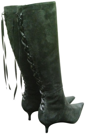 Preload https://img-static.tradesy.com/item/3807259/black-italy-vintage-suede-kitten-heel-satin-tie-bootsbooties-size-us-7-regular-m-b-0-2-540-540.jpg