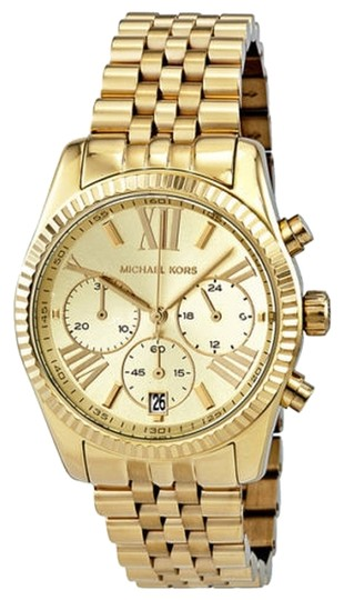 Michael Kors Michael Kors Chronograph Gold Tone PVD bezel Ladies Watch