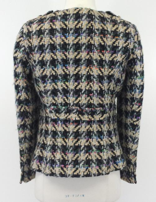 Etcetera Houndstooth Wool Tweed Jacket