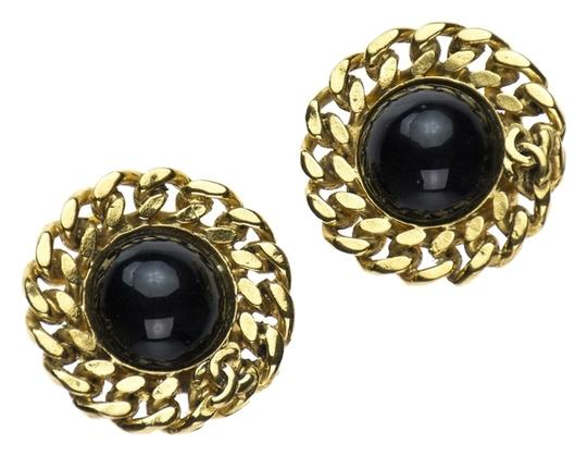 Chanel Chanel Vintage Black Button Earrings